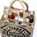 Cabas jute six bouteilles Domaine Tropez